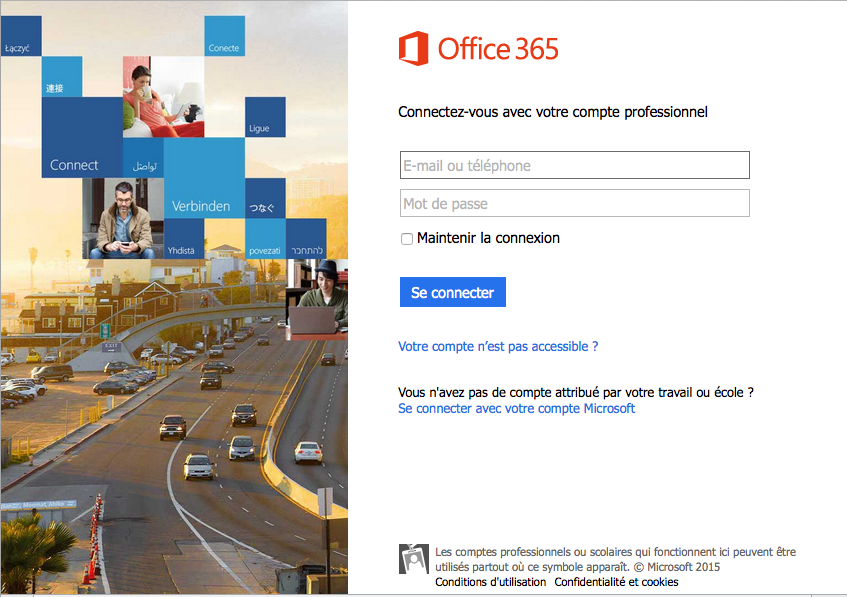 Office 365 connexion mail